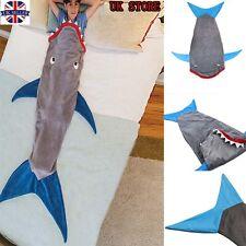 """55"""" Kids Shark Mermaid Tail Fleece Blanket Soft Snuggle-in Sleeping Bag Costume"""