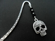 A TIBETAN SILVER ENGRAVED  SKULL CHARM BOOKMARK. NEW.