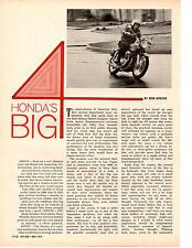 1969 HONDA 750cc FOUR MOTORCYCLE ~ ORIGINAL 2-PAGE ARTICLE / AD