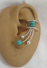 Left  SingleTurquoise earcuff/ ear clip  #77TQ