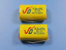 2pcs For JIEDENG 250V 8.2uF Crossover Polypropylene Non-Polarity Capacitor