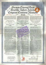 Original Germany Sterling Loan 1924 Bond Holland Dutch issue £100 Daves coupons