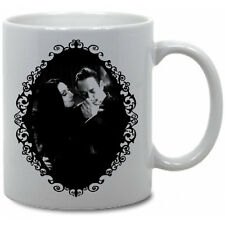ADDAMS FAMILY COFFEE MUG! morticia gomez horror monsters goth munsters love vtg