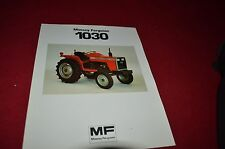 Massey Ferguson 1030 Tractor Dealer's Brochure GDSD4