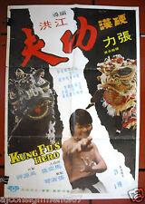 Kung Fu's Hero {Lik Cheung} Kung Fu Original Movie Poster 70s
