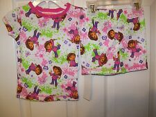 Dora The Explorer Good Times Short Pajama PJ 2 Piece Set Girls Size 2T NWT