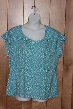 WOMEN'S JUST MY SIZE SHORT SLEEVE KNIT TOP-SIZE: 2X