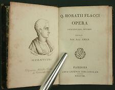 AMAR - HORATII FLACCI - OPERA - 1821 LEFEVRE - EN LATIN - RARE - Horace