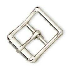 Christopher Piero Handmade Nero Cintura in vera pelle zincato con Roller fibbia