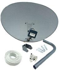 Freesat / Sky 80cm zone 2 satellite dish & quad lnb + 20m Twin White install kit
