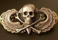 Skull & Bones Jump Wing Airborne Badge US Army Parachute Military Insignia Pin