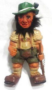 Vintage West Germany Heico Swiss Hiker Bobblehead Doll Figurine