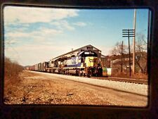 HJ05 ORIGINAL TRAIN SLIDE ENGINE CSX EB Q286 NS 4641 Groucton PA