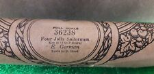 Pianola Music Roll Vintage Full Scale - Four Jolly Sailormen