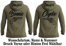 Hoodie Bonnie Clyde Motiv Pullover Partner Look One Love Top Geschenk XS - 3XL