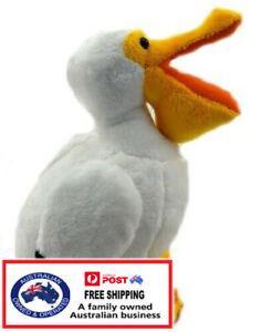 1 X PLUSH PELICAN 22CM teddy gift soft toy stuffed animal bedtime sea bird kids