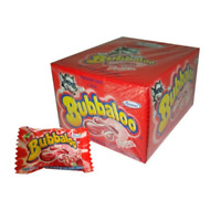 Bubbaloo Frutilla Chicle Globo Strawberry Bubblegum, 300 g / 10.6 oz (box of 60)