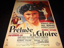 PRELUDE A LA GLOIRE affiche cinema  1949