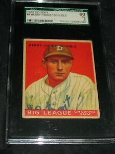1933 Goudey #4 Henry Schuble SGC 60 EX 5 ~Detroit Tigers!!