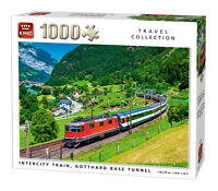 1000 Piece Travel Jigsaw Puzzle Intercity Train Gotthard Tunnel Valley Rail 5716