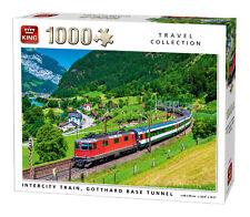 1000 piezas Viaje Puzle Rompecabezas Intercity Tren Gotthard Base Túnel Valley