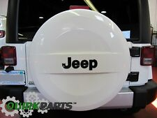2007-2017 JEEP WRANGLER P255/70R18 WHITE HARD SURFACE SPARE TIRE COVER OEM MOPAR