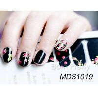 14pcs Polish Flowers Nail Art Decals Adhesive Wraps Manicure Decoration Stickers