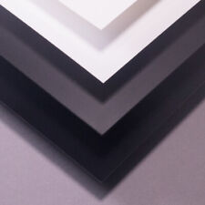 0.25mm to 3mm 10th to 120th Black /& White HIPS Plasticard Styrene A5 A4 A3