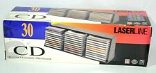 Laserline CD Rack 30 Plastic Storage Wall Mountable Stackable Organizer Orig Box