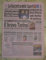 LA GAZZETTA DELLO SPORT N.195 DEL 19 AGOSTO 1999 - VIERI RONALDO TORINO GS11