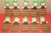 PIKACHU POKEMON GLITTER BIRTHDAY PARTY SUPPLY DECORATION FOAM FOMI 10 FIGURES