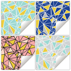 Geometric Tile Stickers Transfers Frog Tape Effect Triangle Abstract - 150mm-T21
