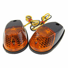 Surface Mount Light Amber Carbon Universal Motorcycle Croc Turn Signal Marker