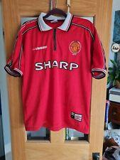 Rare Vintage Manchester United Football Shirt Soccer Jersey Man Utd umbro size f