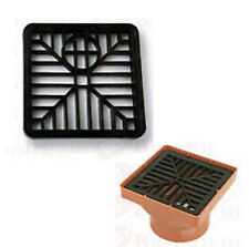 GULLEY GRID DRAIN COVER LID BLACK PVC 6 INCH 150MM x 150MM SQUARE LEAF COVER