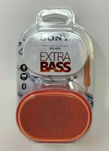 Sony SRS-XB01 Extra Bass Portable Bluetooth Speaker (Red) New Compact Size