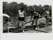 1984 Press Photo Olympic Rower Jeanne Flanagan from Killingworth with Rowers