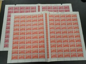 1945 BELGIUM 2 full sheets ( 200 stamps ) OBP 699/700 with plate errors, MNH