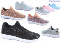 NEW Women's Light weight Glitter Rubber Running Athletic Shoes Size 5 - 10