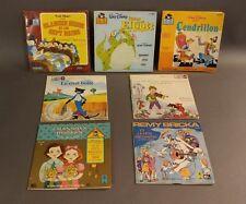 Walt Disney France LP record & story books.Cendrillon,Blanche-Neige,Elliott