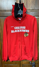 Reebok Chicago Blackhawks NHL Hockey Full Zip Hoodie Sweatshirt Youth Boys XL