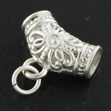 "4Mm Diameter 7/8"" Wide 4.4Gr Bali Handmade 925 Sterling Silver bail Finding"