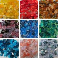 Beads Czech Glass  1/2 lbs of mixed beads by color assorted shapes and  sizes