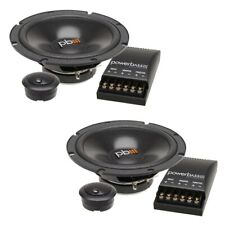 """New listing Powerbass S-60C 6.5"""" 70W Rms 4-Ohm Car Audio Component Speaker System"""