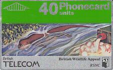 British TELECOM  Phonecard 40 units British Wildlife Appeal 026G