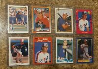 (8) Larry Walker 1990 Leaf Upper Score Donruss Fleer Topps Rookie card lot RC
