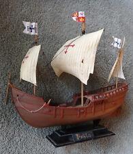 "10x9x5"" Handcrafted Nautical Decor Pinta Plastic Model Ship School Project"