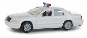 Walthers HO Scale Ford Crown Victoria Police Interceptor White/Agency Decals