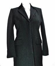 J Crew Fleck Wool Tweed Crombie Overcoat 10 Med Charcoal Chesterfield Ladies
