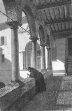 ROME. Upper Gallery of Cloister Aracoeli 1872 old antique print picture